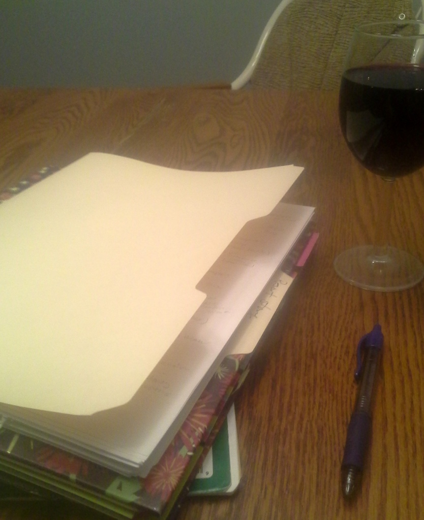Wine and song ... er, outlining