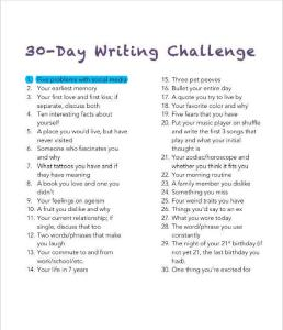 1 - Writing Challenge