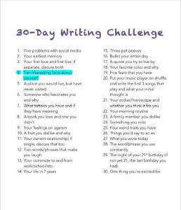 4 - Writing Challenge