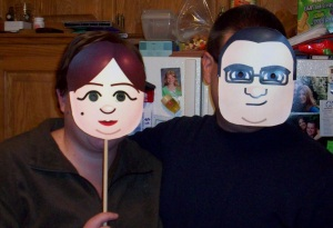 Our Halloween costumes from 2010.  I really can't take any credit on this one - the Mii designs are courtesy of my talented hubby.